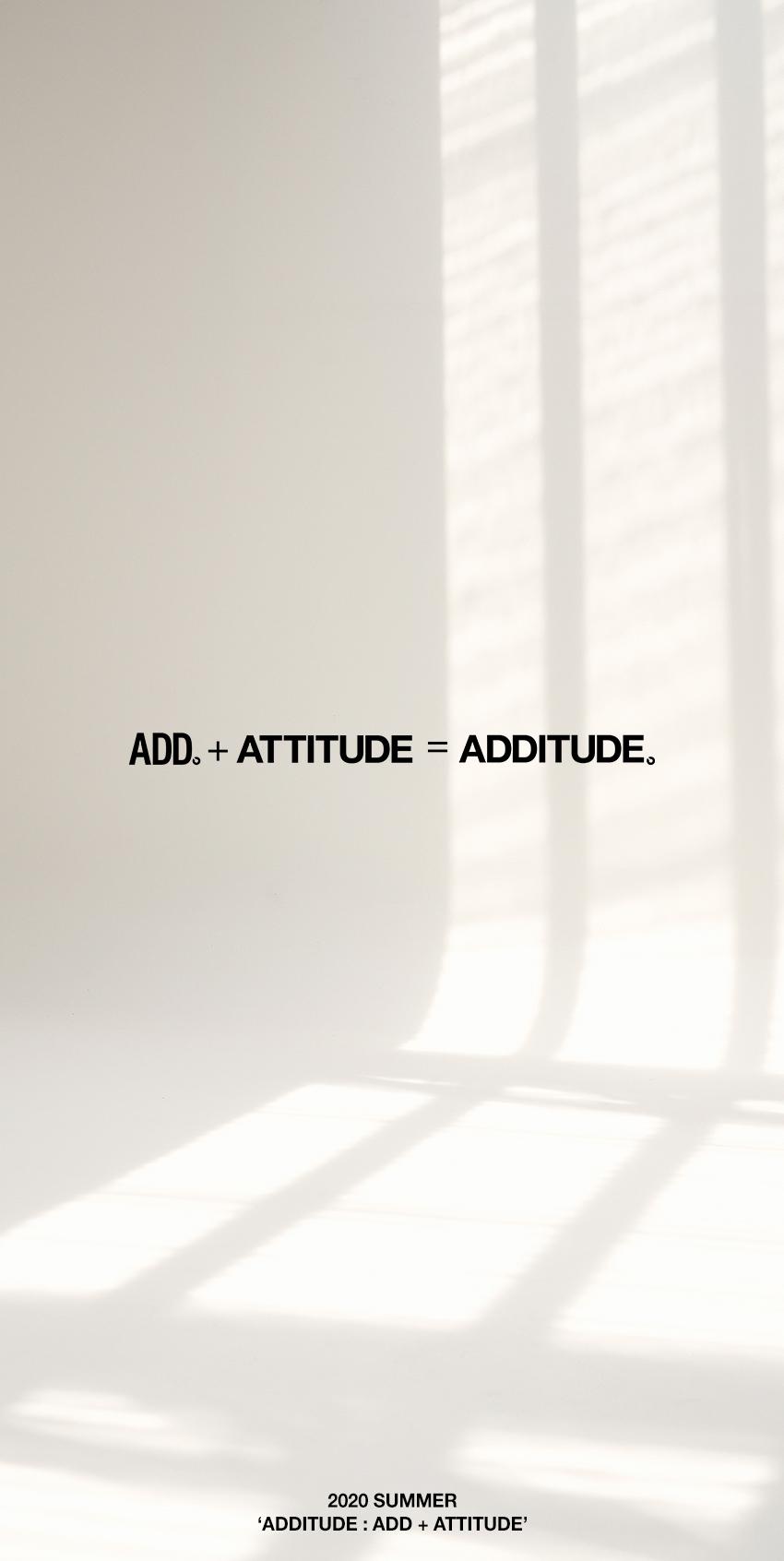 에드(ADD) ADDITUDE STAMP TEE WHITE