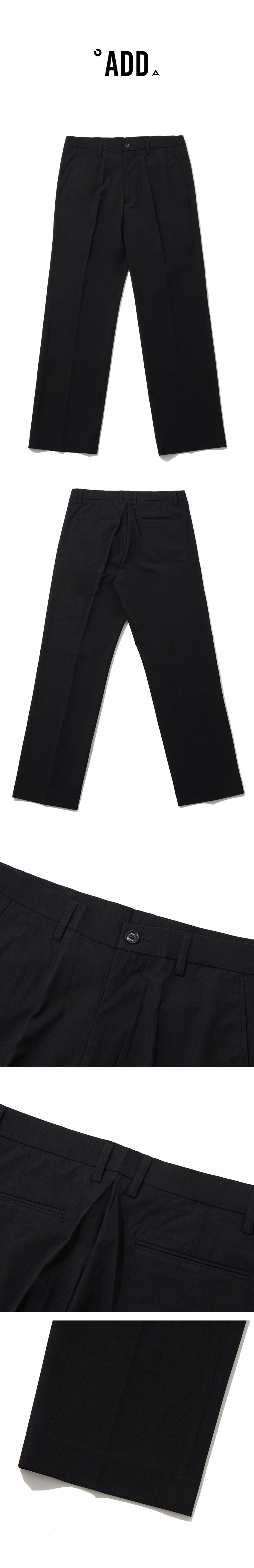 에드(ADD) [여름]LONG WIDE SLACKS_SS BLACK
