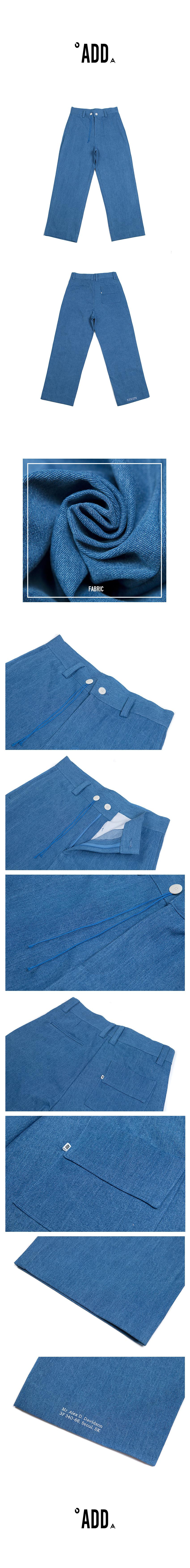 에드(ADD) ENVELOPE DENIM WIDE PANTS BLUE
