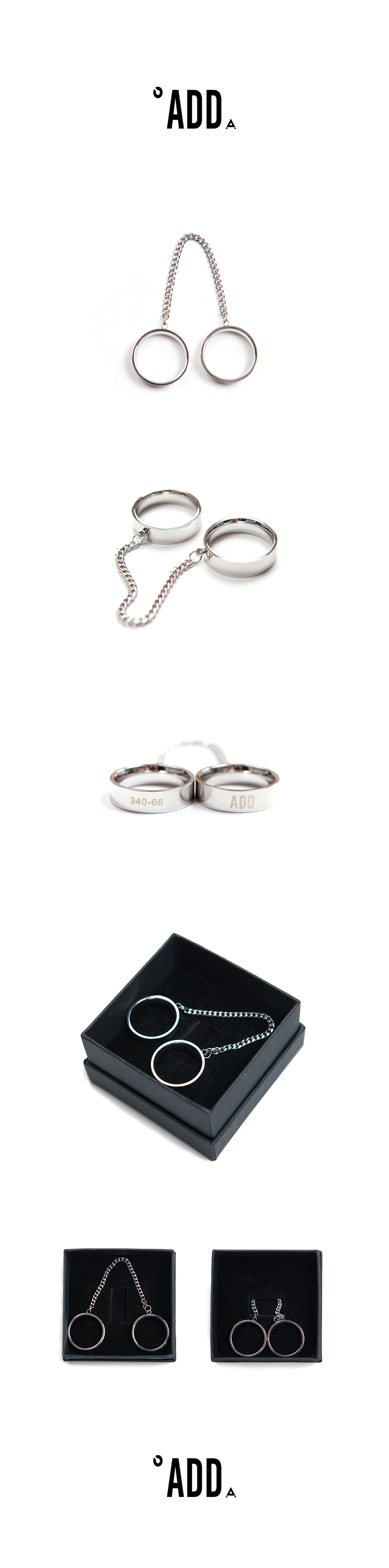 에드(ADD) DOUBLE LOGO RING